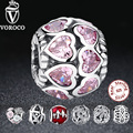 925 Prata Esterlina Amor Todo CZ Beads Fit Pandora Charme 925 Pulseira de Prata Beads & Jewelry Making S065