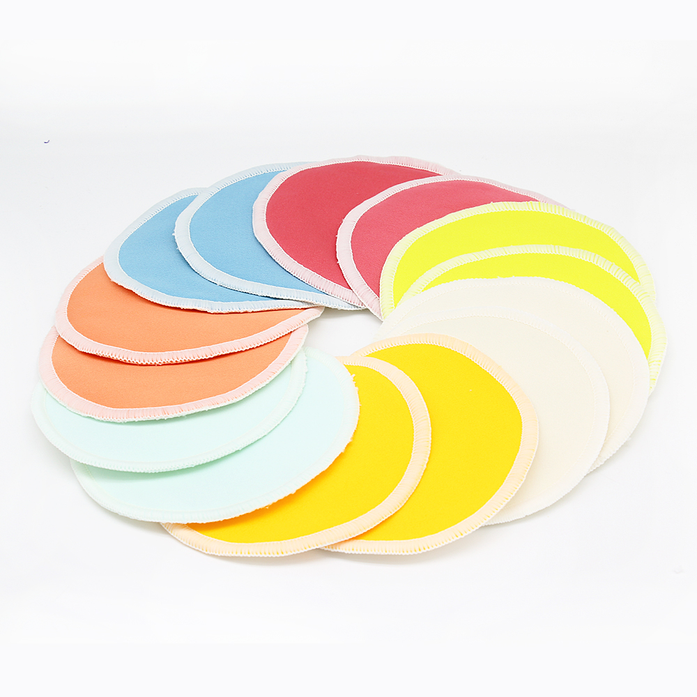 10PC Organic Bamboo Breast Pad Nursing Pads Solid Color For Mum Waterproof Washable Feeding Pad Bamboo Stay Reusable Breast Pad - 2