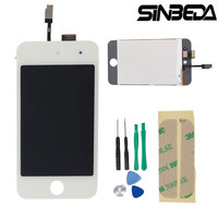 Sinbeda High Quality LCD Display For iPod Touch 4 with Glass Touch Screen Digitizer Replacement Gift Tools & adhesive