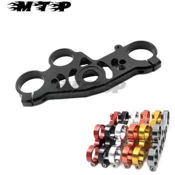Motorcycle Aluminum Guard Pad Upper Top Front Triple Tree Clamp For Yamaha YZF R1 YZFR1 YZF-R1 2004 2005 2006
