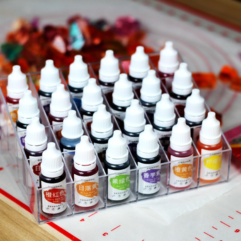Water-oil Edible Food Pigment Watercolor Rainbow Cake Macaron Cream Edible Toner Powder Flower Fondant 10ml Baking Ingredients