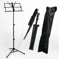 Adjustable Music Sheet Stand Folding Metal Sing Songs Stand With Carrying Bag Metal Music Holder Musical Instruments