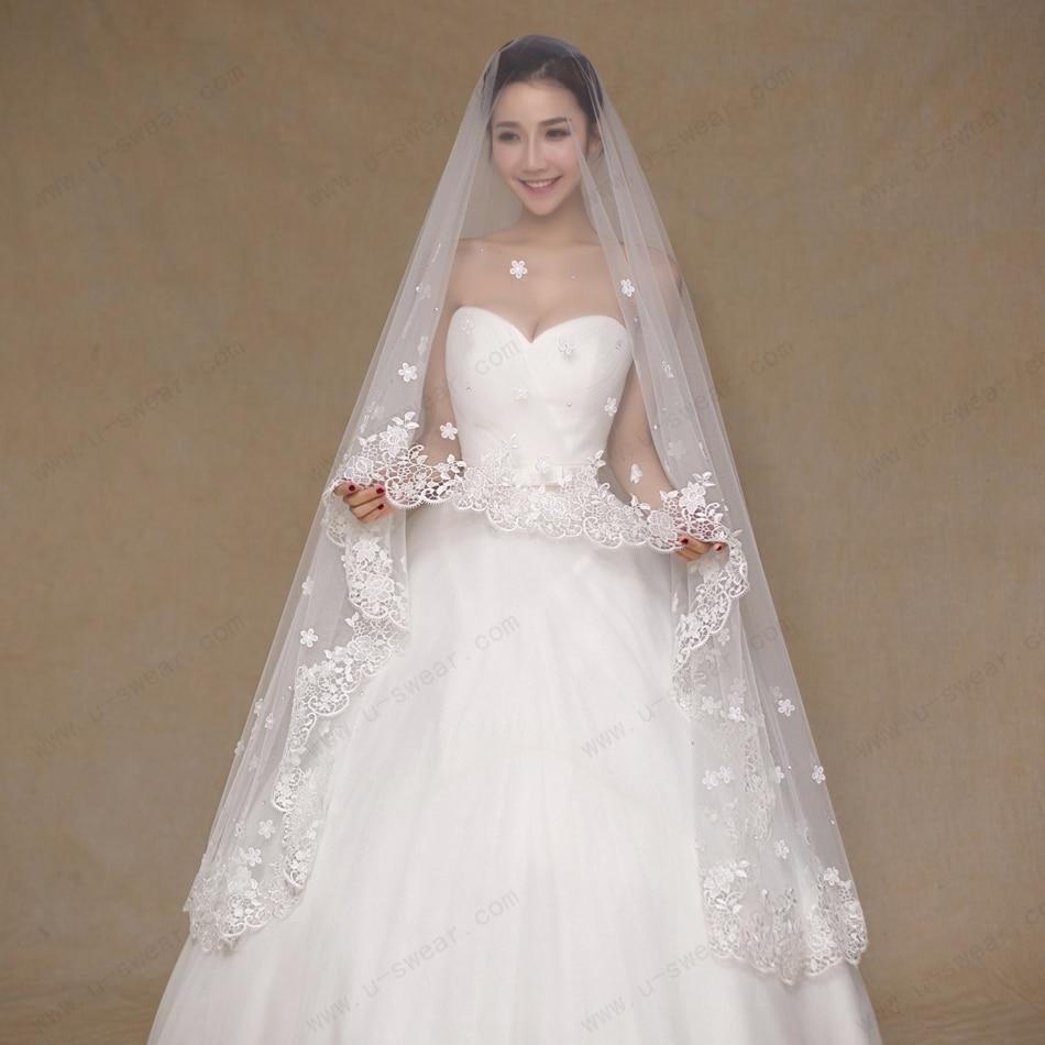 Aliexpress.com : Buy 2016 Wedding Veils Floral Appliques