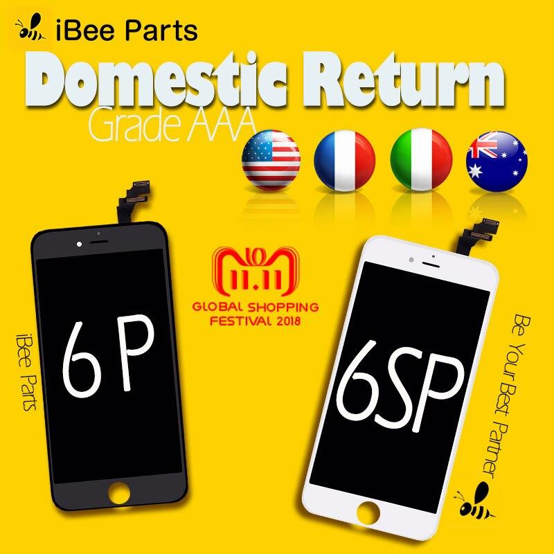 IBee Teile 10 stücke Grade AAA Top Qualität Für iPhone 6 Plus 6 s Plus LCD Display 3D Touchscreen digitizer Montage Ersatz
