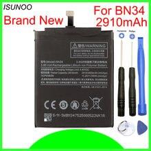 Аккумулятор ISUNOO BN34 на 2910 мАч для Xiaomi Redmi 5A, аккумулятор 5,0 дюйма с инструментами для ремонта