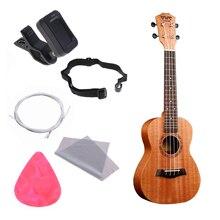 23 Inch Full Kits Ukulele Wood Hawaiian Four String Guitar Mahogany Wood Ukelele Christmas Gifts