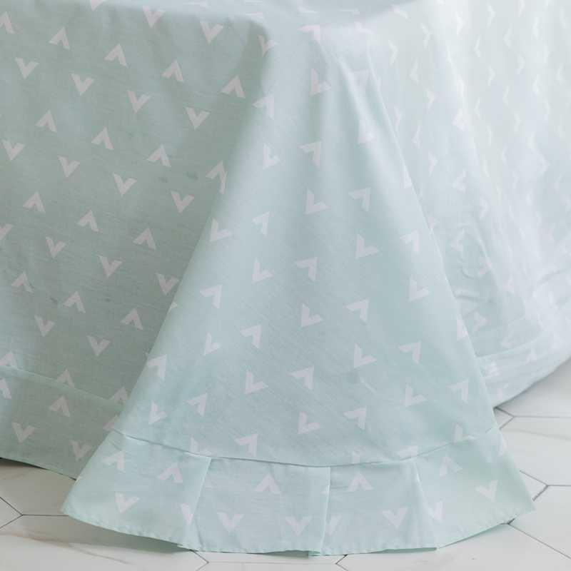 Свежий стиль постельных принадлежностей светло зеленый цветочный узор звезда постельное белье 100% хлопковое стеганное одеяло Twin queen King size