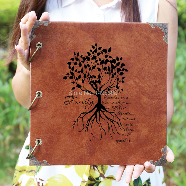b27e24fd28e3a US $4.25 15% OFF|Personalized Engraved Photo Album /Custom LoveTree Wedding  Guest Book/wedding Scrapbook-in Photo Albums from Home & Garden on ...