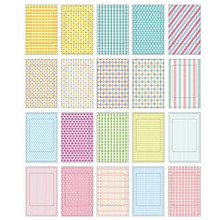 20 Pcs/Lot DIY Scrapbook Decorative Photo Albums Memo Stickers Paper Photos Frame For Instax Mini Film Home Decor 9cm x 6cm(China)