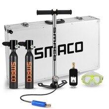 SMACO два кислородные комплекты цилиндров мини подводное оборудование для дайвинга Танк полная свободное дыхание под водой в течение 5-10 минут