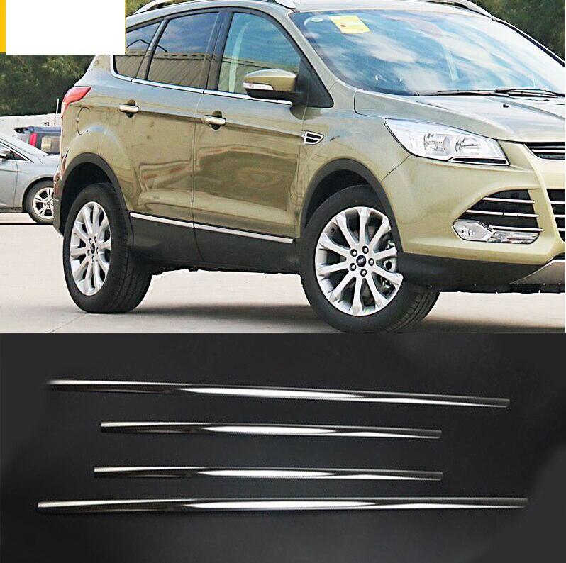 Fit Ford Escape Kuga 2013-2016 2017 Auto Door Bowl Handle Cover Trim Chrome