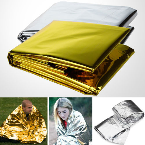 Military First Aid Emergency Rescue Curtain Reusable Life Saving Event Survival Rescue Blanket First Aid Sliver Rescue Curtain