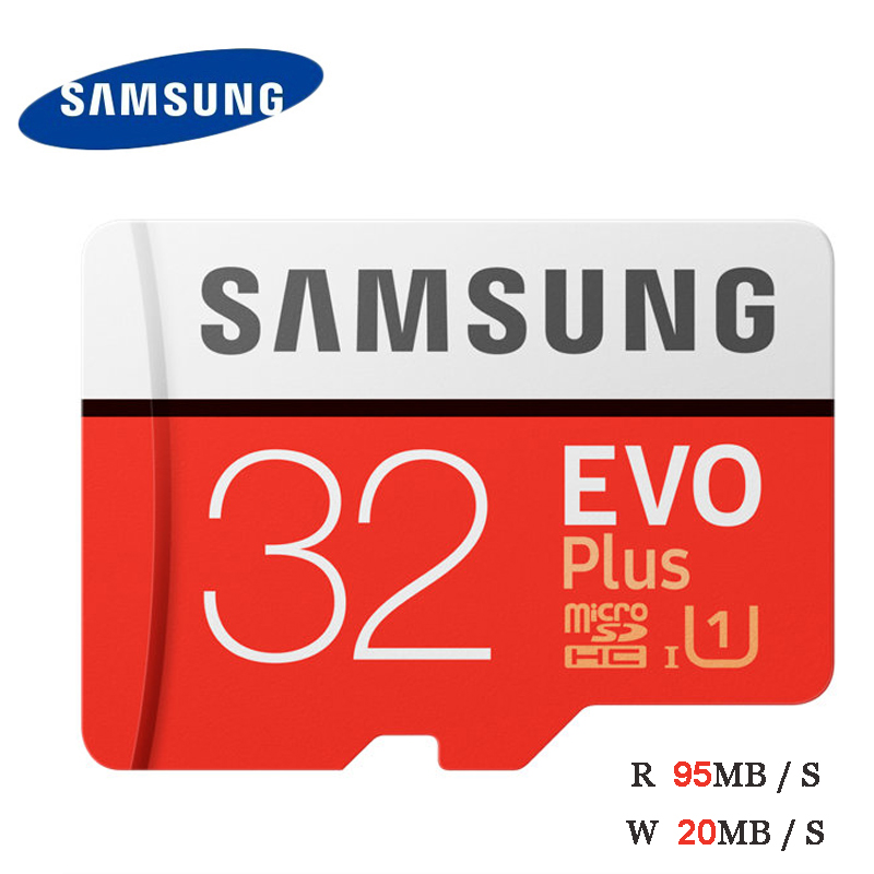 100% Original SAMSUNG EVO Plus Microsd Card 256G 128GB 64GB 100Mb/s Class10 U3 32GB U1 Micro SD Memory Card TF Tran Flash Card