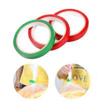 1PC bolsa de Cinta de sellado de 40m de longitud/verde/rojo fresco-mantener Cinta sella bolsas vegetales clasificar Cinta de sellado para bolsa sellador