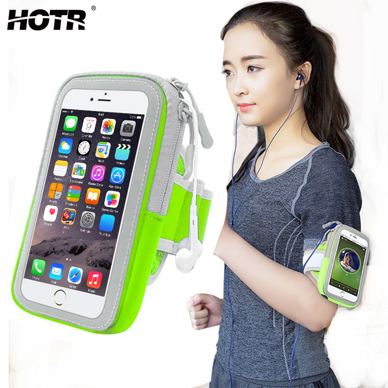 4.9/5.8inch Sport Armband Pouch Bag Case Outdoor Running Full Protect Cover For Iphone 8 7 6 Plus 5 For Samsung S8 S7 Edge S6/5 Armbands