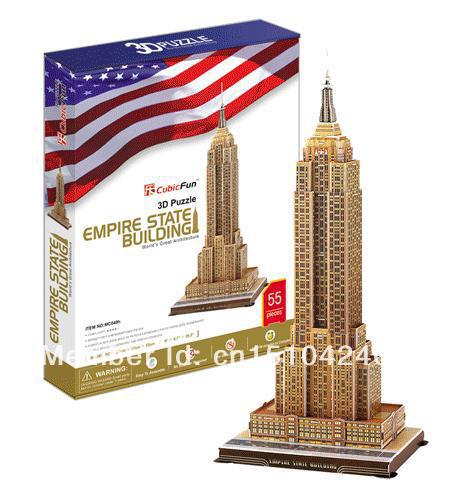 Empire State Building CubicFun 3D educational puzzle Paper & EPS Model Papercraft Home Adornment for christmas birthday gift series s 3d puzzle paper diy papercraft double decker bus eiffel tower titanic tower bridge empire state building