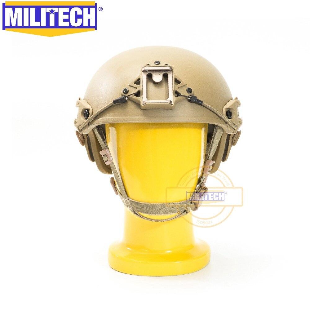 MILITECH Air Frame Vented Coyote Brown CB Super ABS Airsoft Tactical Helmet Crye High Cut Training Helmet Ballistic Style Helmet
