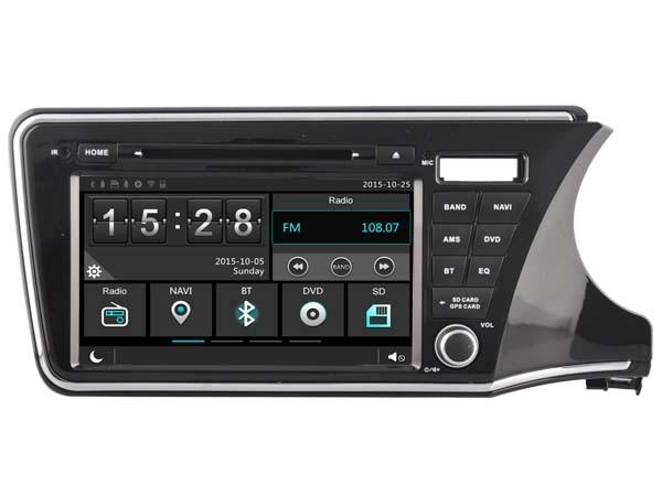 Car Gps Dvd Head Unit Radio for Honda City 2014 Right Drive Version Navigation Phone Mirror Multimedia OBD2 3G WIFI DVR 1080P