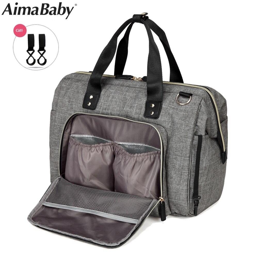 Aimababy большой мешок пеленки организатор бренд Сумки для подгузников для путешествий для беременных сумки для мамочек Детские коляски сумка ...