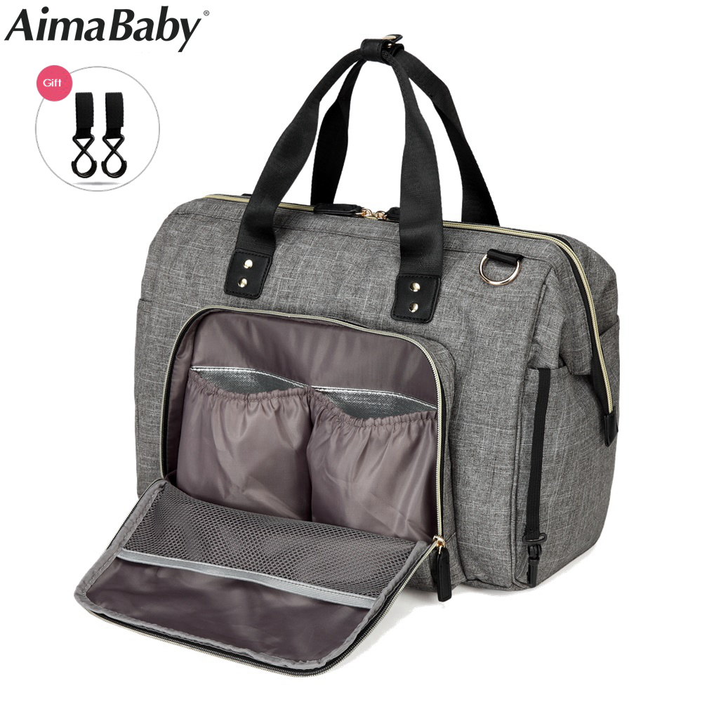Aimababy Large Diaper Bag Organizer Brand Nappy Bags Baby Travel Maternity Bags For Mother Baby Stroller Bag Diaper Handbag