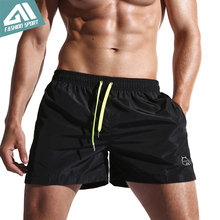 New Quick Dry Mens Swim Shorts Summer Board Shorts Surf Swimwear Beach Shorts Male Athletic Running