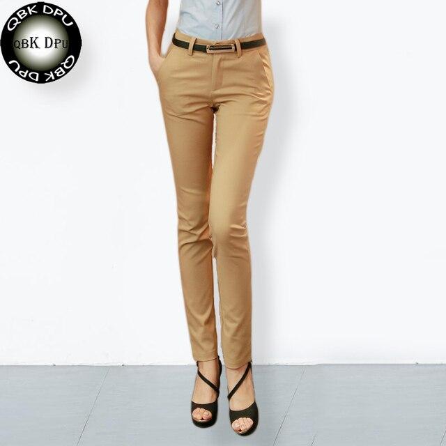 women's top quality casual elastic cotton Pencil pants 2018 New arrival elegant ladies office work pants big size trousers women