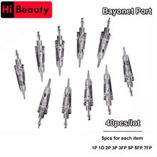 40pcs / lot Einweg-Bajonett-Tätowierungs-Nadel-Patronen für dauerhafte Tätowierungs-Maschine mit 1P 1D 2P 3P 3FP 5P 5FP 7FP