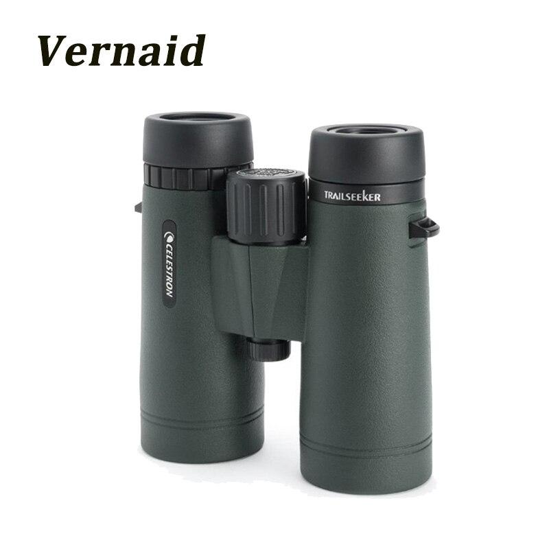 Celestron TrailSeeker 8x42 Binoculars BaK 4 Prisms Wide Field of View Fully Multi Coated Opitcs for