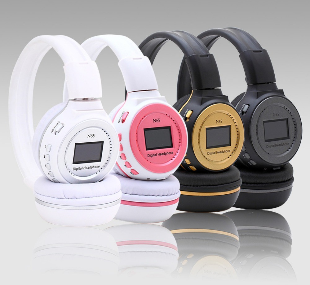 Zealot MP3 Digital Wireless Headband Headphone FM SD Stereo Music Player Sd Card Slot Zealot N65 with LCD Display USB Cable T5 car usb sd aux adapter digital music changer mp3 converter for skoda octavia 2007 2011 fits select oem radios