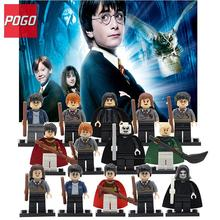 POGO Hermione Ron Lord Harry Potter Building Blocks Single Sale Voldemort Draco Malfoy Action Figure Toys