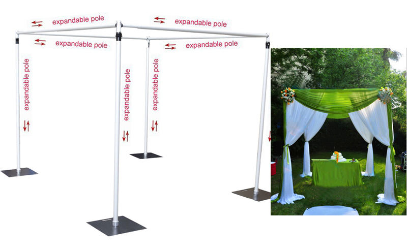 Wedding decoration wedding square pipe canopychuppaharbor pipe wedding drape standin Party