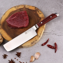 SUNNECKO 2018 New 7″ Cleaver Knife German 1.4116 Steel Blade Christmas Gift for Cook Kitchen Knives Color Wood Handle Cooking