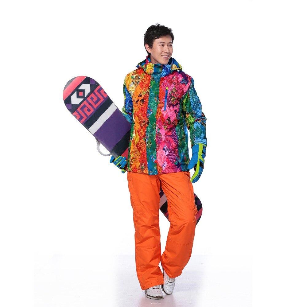 Ski Costume Hommes En Plein Air étanche windrpoof d'hiver salopette Sport Montagne de Neige veste et pantalon de ski de marque ensemble snowboard costume Masculin
