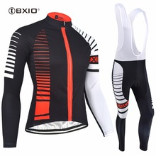 BXIO Invierno Ropa Ciclismo Winter Thermal Fleece Cycling Set Autumn Bicycle Clothes Top Quality Long Sleeve Bike Set 098