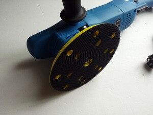 """Image 5 - Pulidor de coche eléctrico, herramienta eléctrica con función de autobloqueo de velocidad ajustable de 5 """"o 6"""" y 900w, pulidor de ángulo de 21mm y diámetro orbital"""