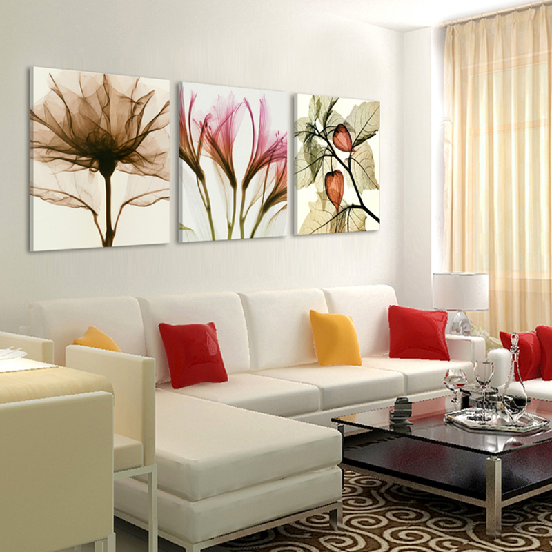 3 Panels Canvas Pittura moderna sul muro Immagine Living room and bedroom art decorative pictures flower paintings No Frame