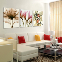 3 Panels Canvas Painting modern on the wall Picture Living room and bedroom art decorative pictures flower paintings No Frame