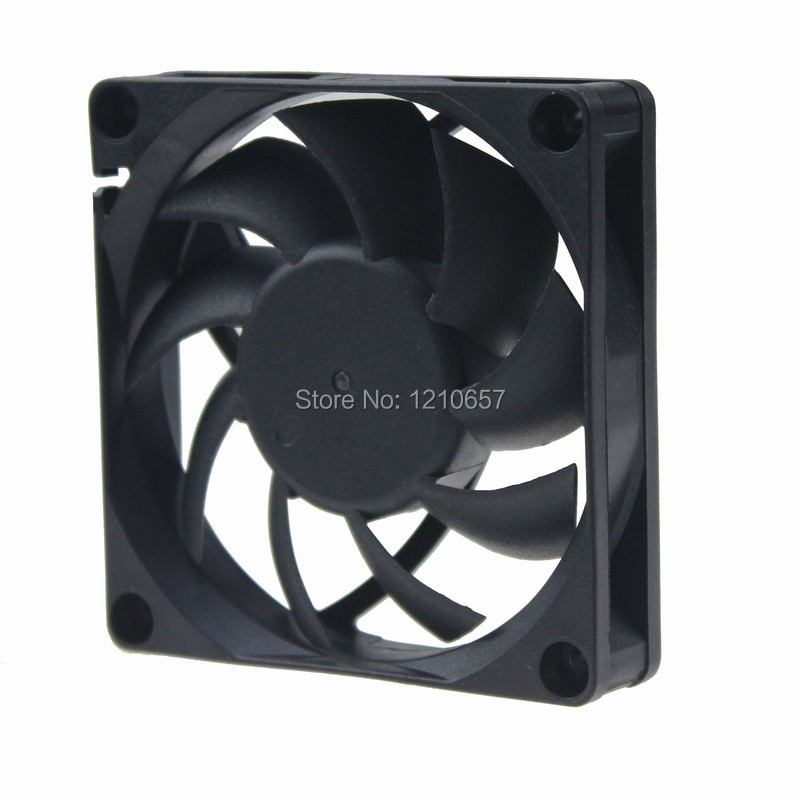 10 Pieces LOT Gdstime 70MM 70 X 70 X 15mm 2Pin 12V DC Brushless Cooling Cooler Fan