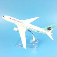 FREIES VERSCHIFFEN 16 CM AIR CANADA Fluggesellschaft Boeing 777 METALL LEGIERUNG MODELL FLUGZEUG SPIELZEUG GEBUR
