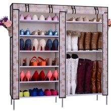 Non-woven shoe dust simple minimalist double rack storage cabinet entrance Specials