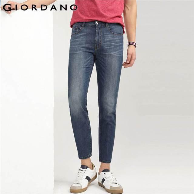 815e7800dadc2 Pantalones vaqueros ajustados de mezclilla para hombre
