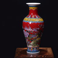 Wedding Decoration Chinese Big Antique Enameled Porcelain Ceramic Vases