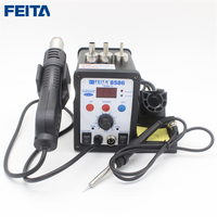 FEITA 8586 Efficient 2in1 LED Digital Display Repair Soldering Station Hot Air Gun With Resoldering Iron