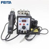 FEITA 8586 Efficient 2in1 LED Digital Display Repair Soldering Station Hot Air Gun With Resoldering Iron