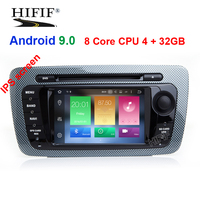 DSP Android 9.0 CAR DVD GPS Player Bluetooth Car Sat Nav Stereo Radio Navigation 2 Din GPS Head Unit For SEAT IBIZA 2009 2013