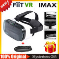 "FIIT VR 2N  Virtual Reality 3D Glasses google cardboard for 4.0 to 6.5"" phone vr box vr park + Bluetooth Wireless Mouse gamepad"