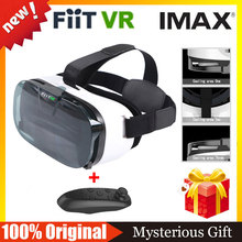 FIIT VR 2N  Virtual Reality 3D Glasses google cardboard for 4.0 to 6.5″ phone vr box vr park + Bluetooth Wireless Mouse gamepad