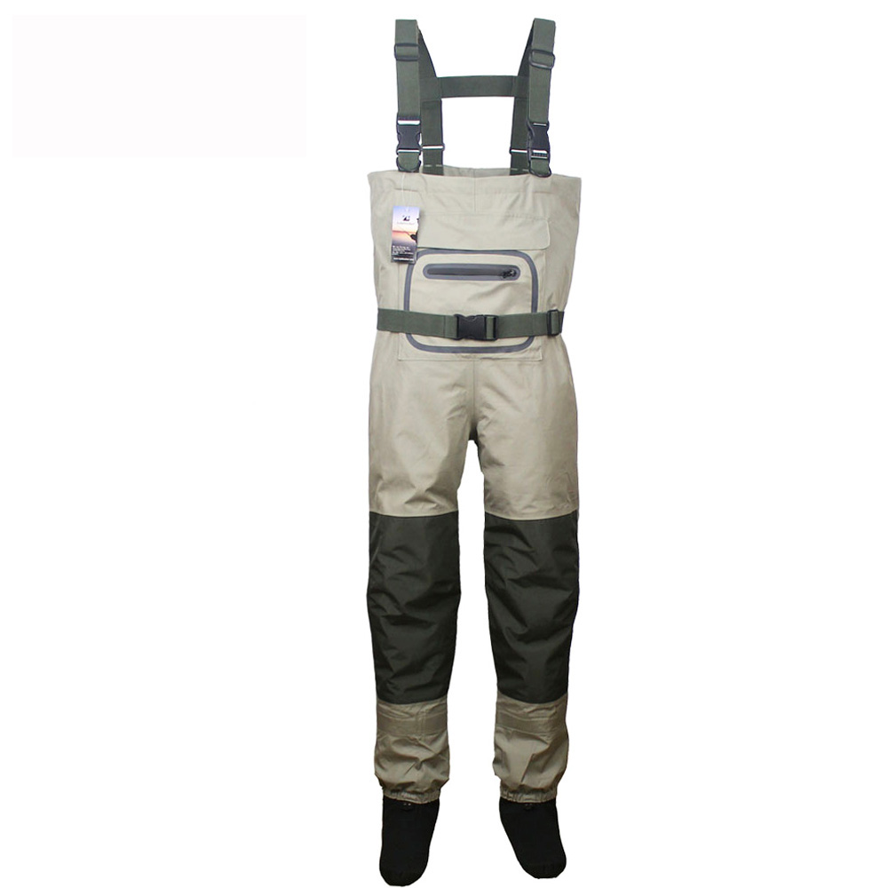 Fly Fishing Waterproof Breathable Waders  Neoprene Stocking Foot Chest Waders  for Men and Women