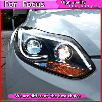 Car Styling Assembly for Focus 2012 -2014 Headlights focus  LED Headlight DRL Lens Double Beam Bi-Xenon HID - DISCOUNT ITEM  20% OFF All Category