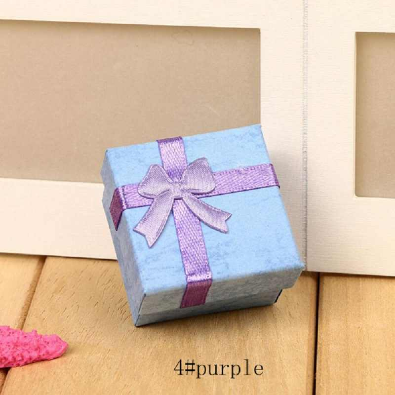 Ювелирные изделия, органайзер, коробка, кольца/серьги, для хранения, маленькая Подарочная коробка, сделай сам, ремесло, мода, красочные, 4*4 см, бант, красочные, новые, wh